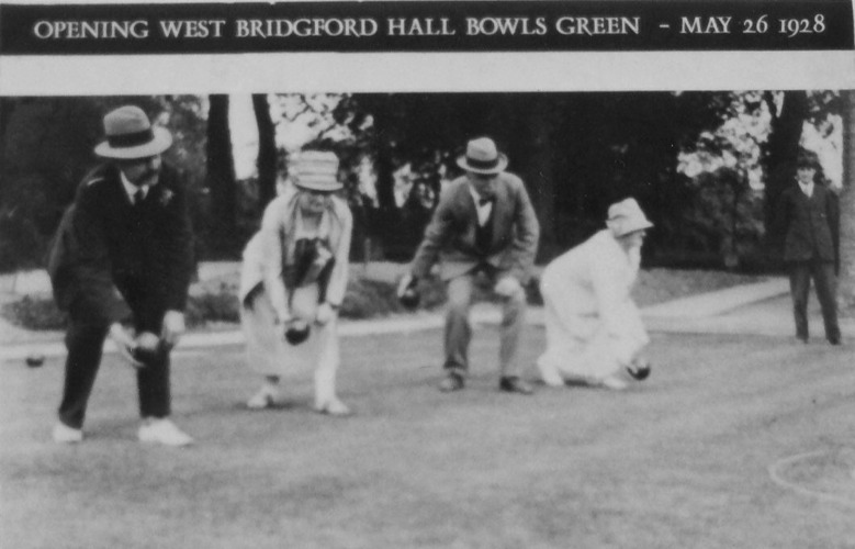 Bridgford Hall, bowling green 1928