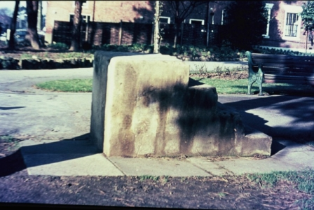 Bridgford Park, mounting block c1995