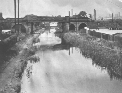 Grantham Canal, railway bridge c1965