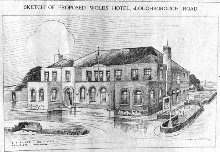 Loughborough Rd, Wolds Hotel proposal 1937
