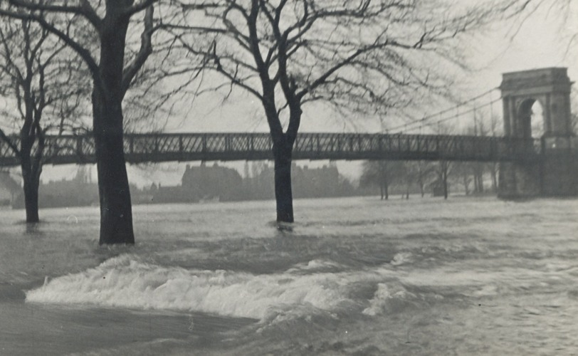 Welbeck Suspension Bridge 1947